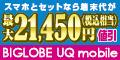 BIGLOBE UQモバイル(端末セット)